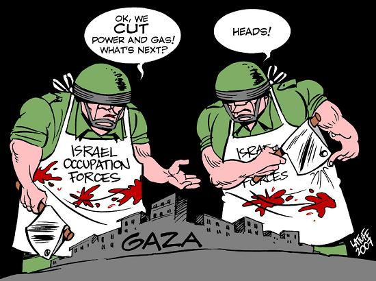 Cartoons on Gaza Massacre