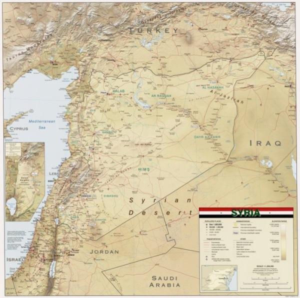 Syria 2004 CIA map