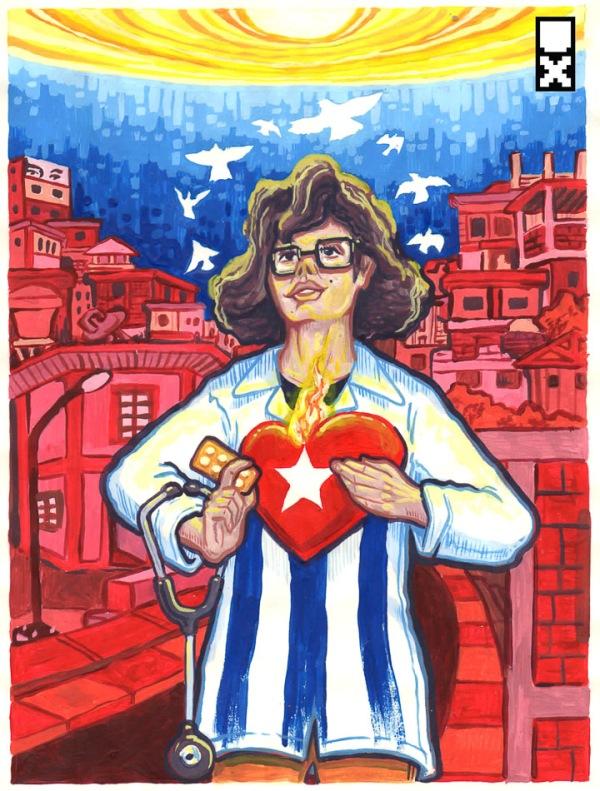 A los médicos cubanos by Miguel Guerra Utopix 1