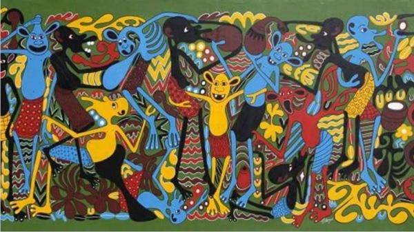 George Lilanga Tanzania Ukifka Mjini Kila Mtu Na Lake 1970s 4