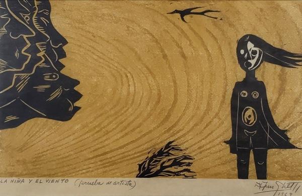 Francisco Amighetti Costa Rica La Niña el viento 1969 3