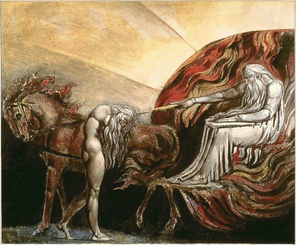 William Blake England God Judging Adam 1795 1