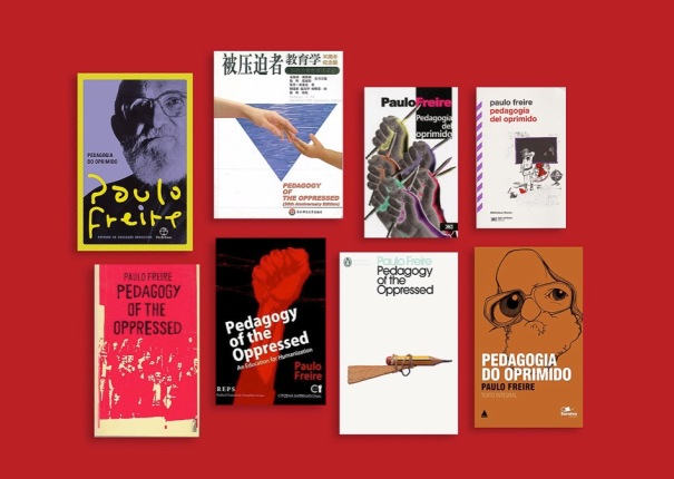 Book covers of Pedagogy of the Oppressed in different languages