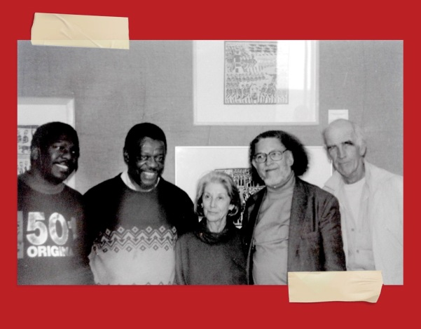 L to R Mongane Wally Serote Nadine Gordimer and Dennis Brutus Amazwi South African Museum of Literature