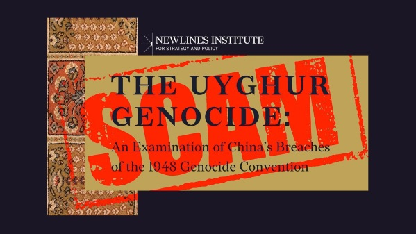Newlines institute uyghur genocide china report false
