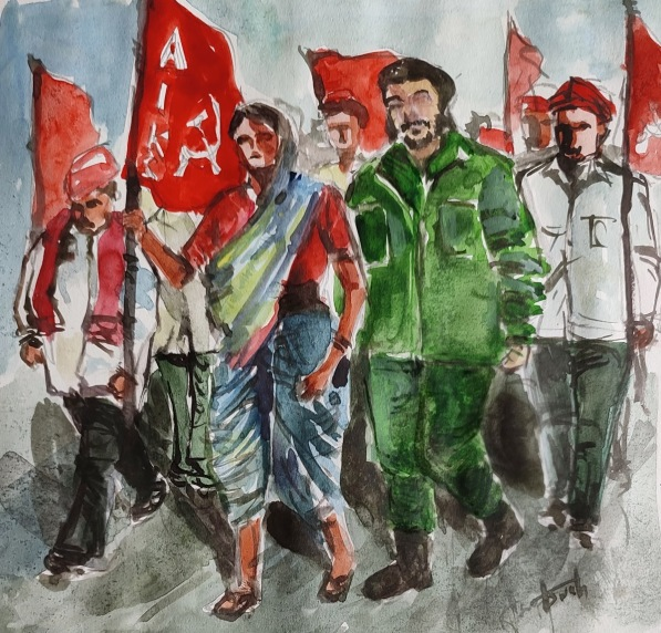 20210614 Full Aswath Young Socialist Artists India Marching with the Peasants 2021