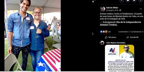 Dissidente cubano allamnasciata Usa1