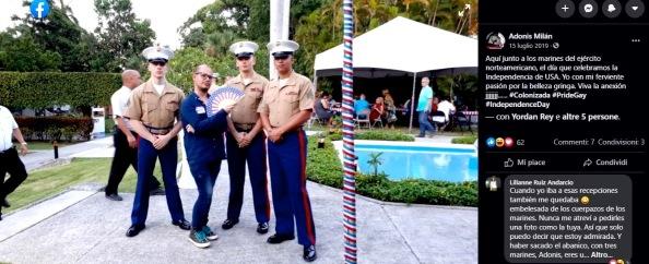 Dissidente cubano con i marines Usa