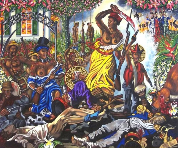 Lili Bernand Cuba Carlota Leading the People after Eugene Delacroixs Liberty Leading the People 1830 2011