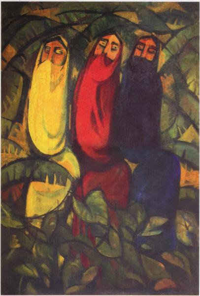 Quamrul Hassan Bangladesh Three Women 1955